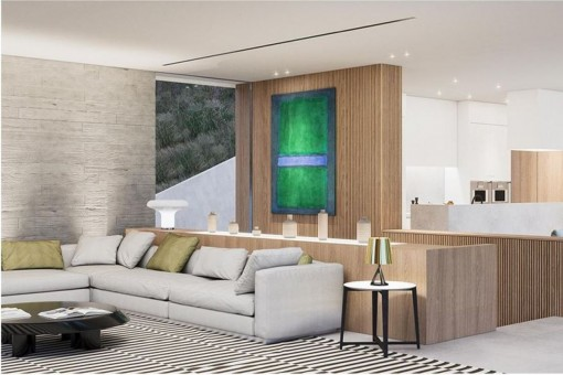 The living space is 415 sqm