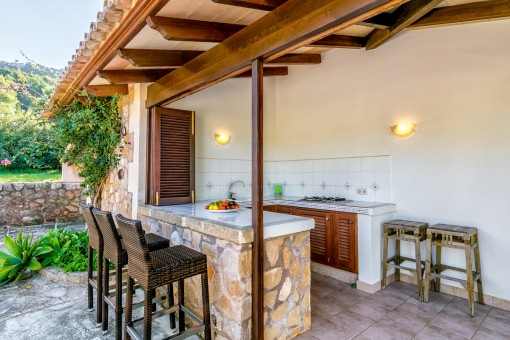 Fantastic outdoor kitchen with bar