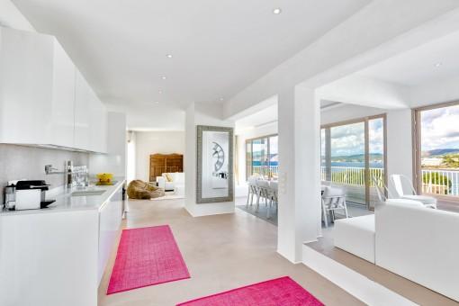 Luxury penthouse in Santa Ponsa with wonderful sea views