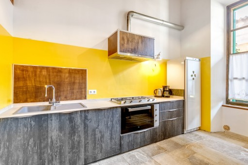 Fully equipped kitchen in modern design