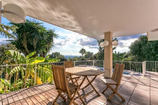 Inviting dining area on the veranda