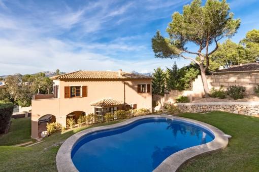 Mediterranean garden with pool