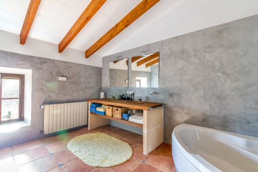 One of 3 bathrooms with heating