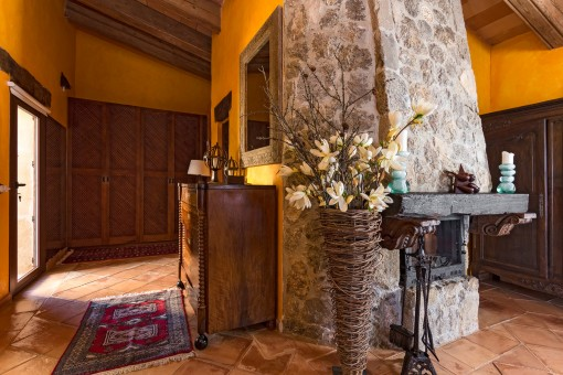Amazing fireplace and dressing room in the master bedroom