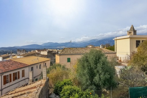 Views from the roof terrace over the village