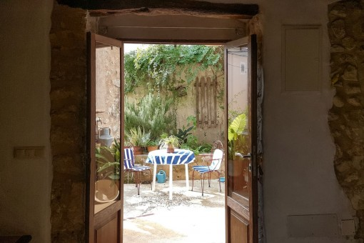 Access from the living area to the patio