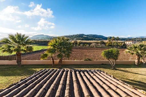 The finca is surrounded by a picturesque landscape