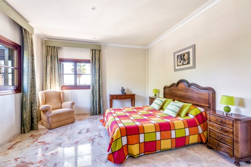 Capacious double bedroom