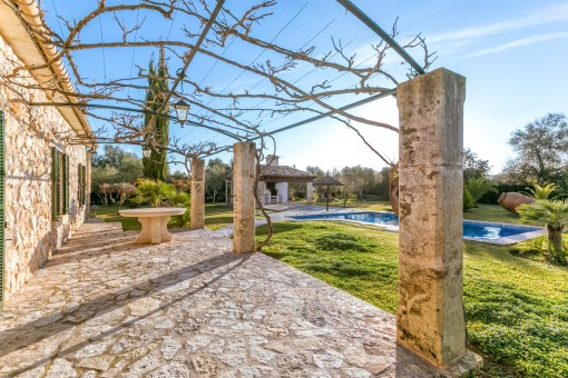 Wonderful natural-stone terrace