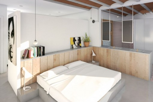 Stylish bedroom with bathroom en suite