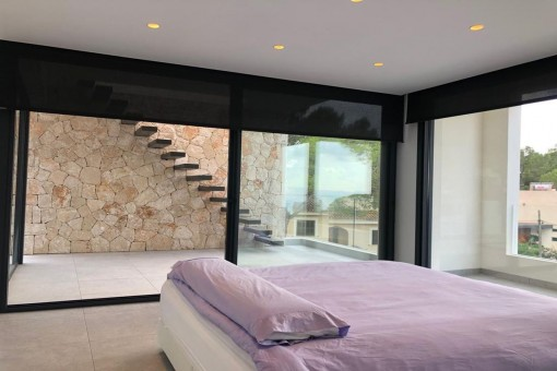 Master bedroom with panoramic windows