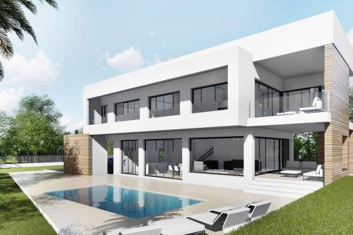 Modern, newly-built villa with views over the bay of Palma