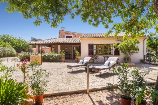 Beautiful main house with sun terrace