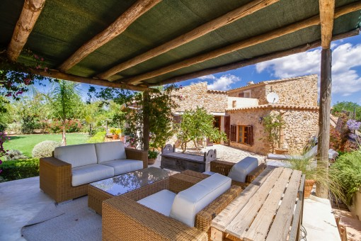 Lovely terrace with lounge area