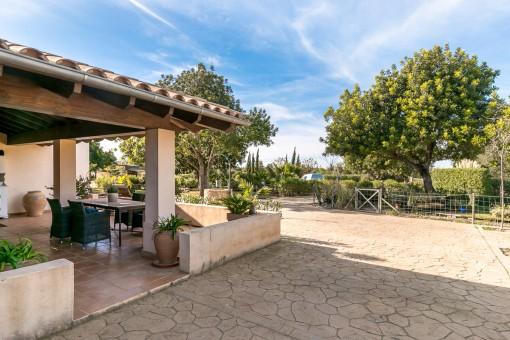 Veranda and courtyard