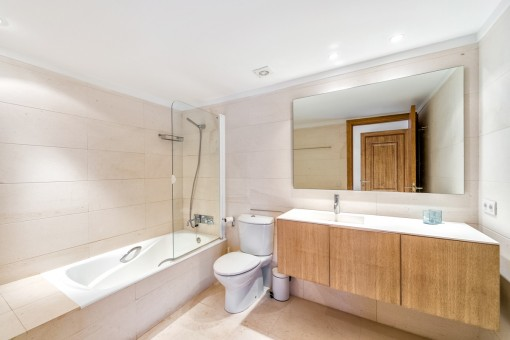 Bathroom with shower-bathtub