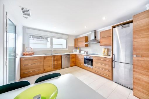 Capacious kitchen