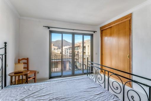 The main bedroom has its own balcony