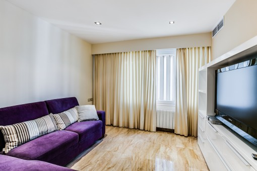 Comfortable television room