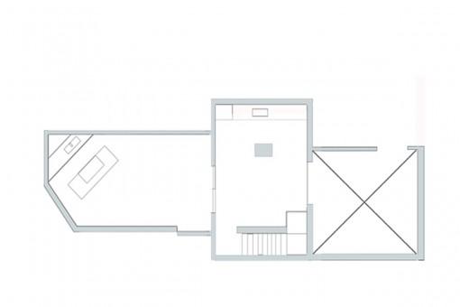 Floor plan of the terrace