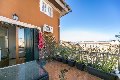 Fantastic terrace with spectacular views to the Plaza Mayor