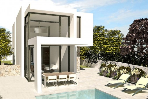 The villa project offers wonderful terraces