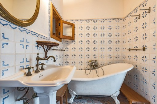 Antique bathroom with bathtub