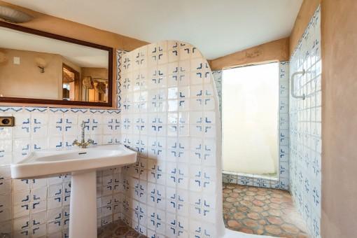 Large shower-bathroom