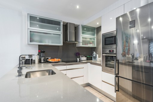 Modern kitchen with sufficient working surface
