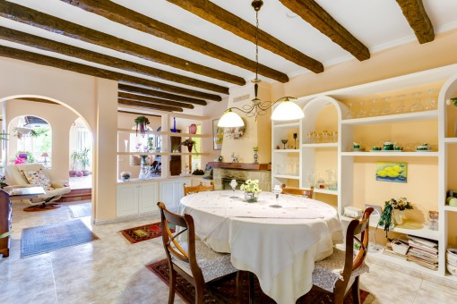 The charming house has a living space of 239 sqm