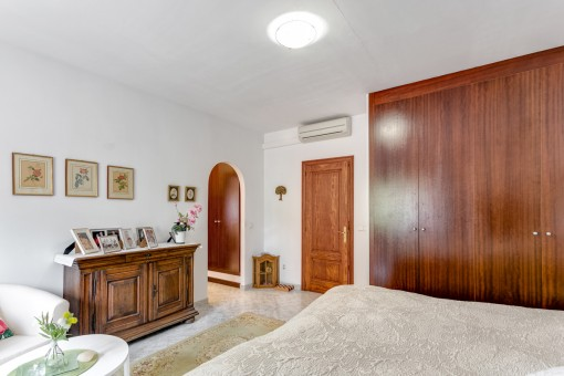 The third bedroom with ample cupboards and air conditioning