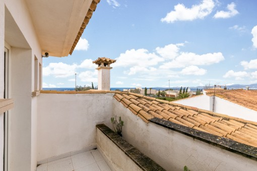 Great sea views from the upper terrace
