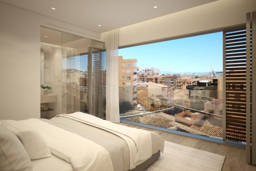 Comfortable bedroom with views over Palma