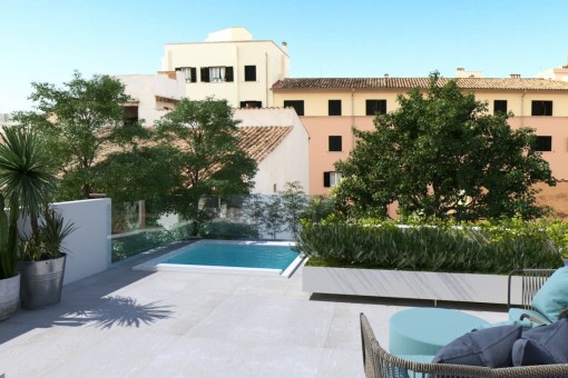 Exclusive apartment with pool in Santa Catalina