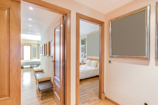 Views from the corridor to the bedrooms