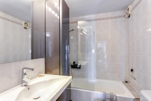 Beautiful bathroom with bathtub