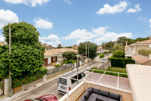 The apartment is situated in a well-maintained residential complex