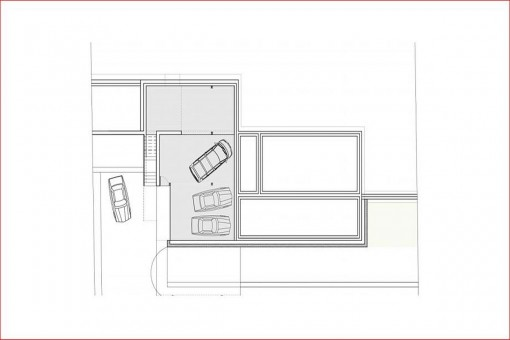 Construction plan of the garage