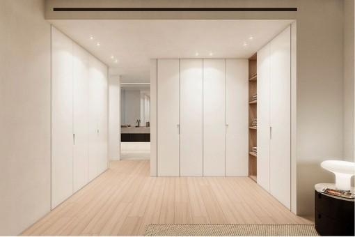 Practical built-in wardrobes in the bedrooms