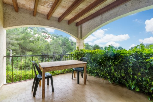 Spacious terrace with views to the idyllic countryside