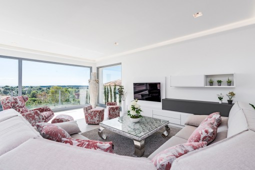 Noble living area with panoramic windows