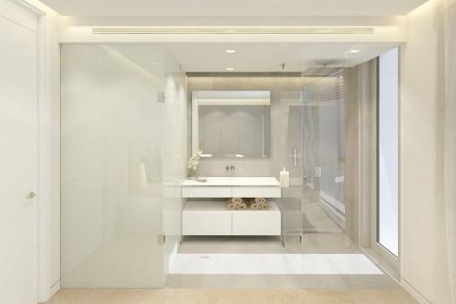Ultra-modern bathroom en suite