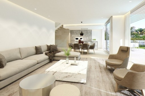Comfortable living and dining area