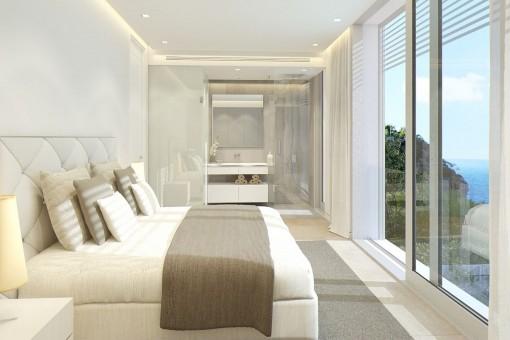 Senational double-bedroom with bathroom en suite