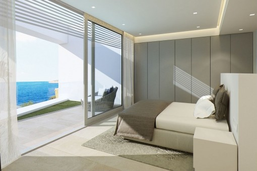 The villa provides sea views from all rooms