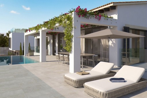 Wonderful terrace with lounge area and pool
