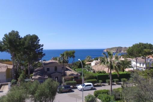 Dreamlike sea views from the villa