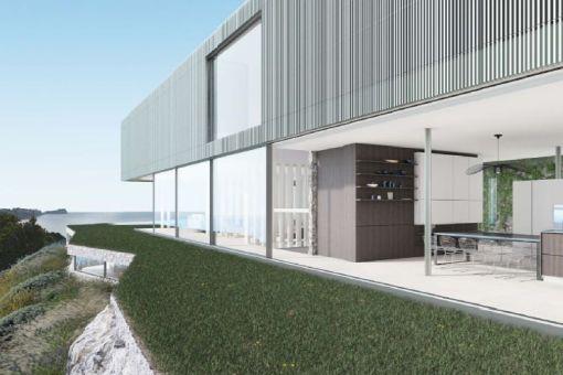 Open kitchen with garden access