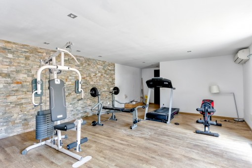 Large fitness room in the separate guest apartment