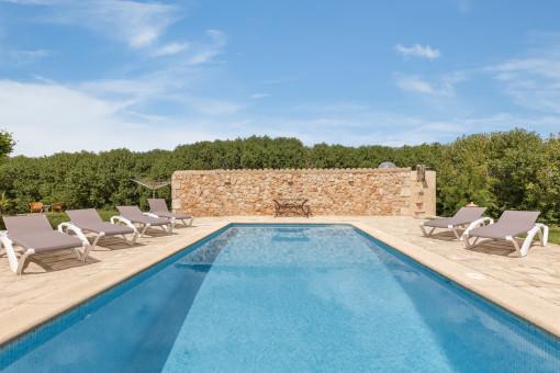Beautiful salt-water pool